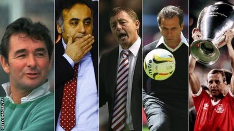 Brian Clough, Fawaz Al Hasawi, Billy Davies, Gianfranco Zola, John McGovern