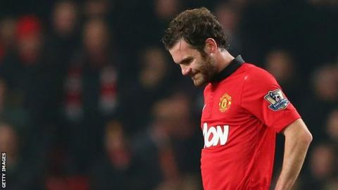 Juan Mata looks dejected