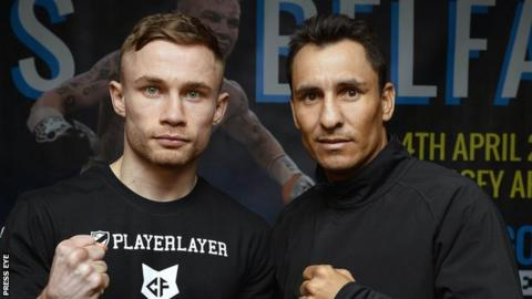 Belfast boxer Carl Frampton and his Mexican opponent Hugo Cazares