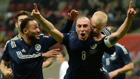 Scotland players celebrating