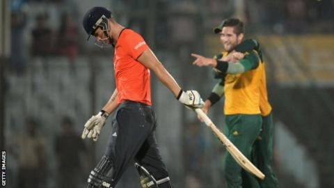 Alex Hales trudges off