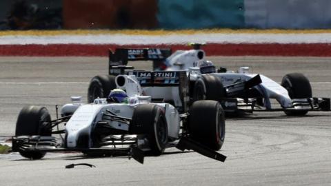 Malaysian GP: Felipe Massa and Valtteri Bottas in team orders battle