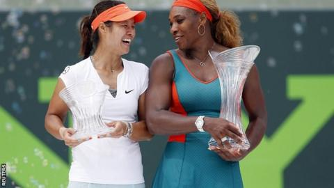 Li Na and Serena Williams