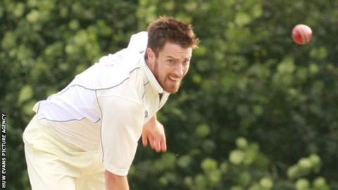 Will Owen in action for Glamorgan