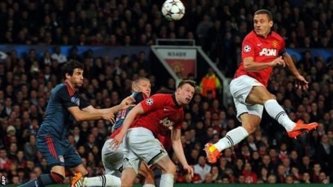 Manchester United captain Vidic scores opener