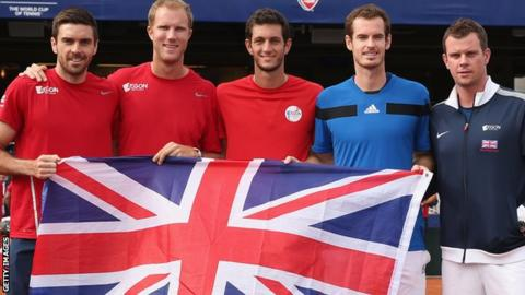 Great Britain's Davis Cup team