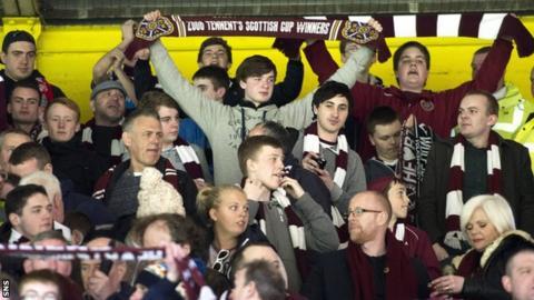 Hearts fans