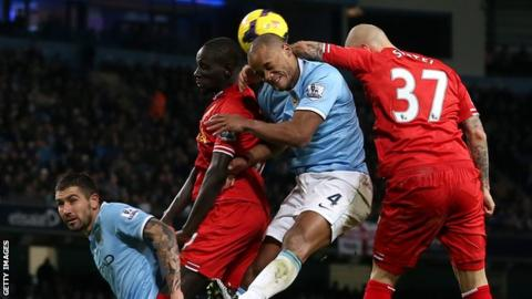 Vincent Kompany was impressed by Liverpool at the Etihad