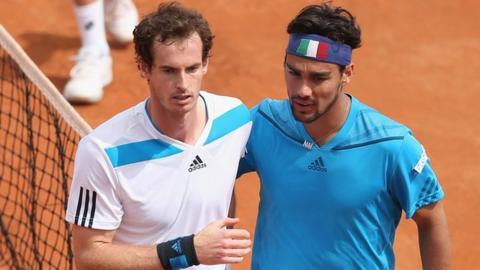 Andy Murray loses to Fabio Fognini at Davis Cup