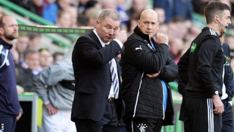 Ally McCoist watches on as Rangers lose 1-0 to Raith Rovers