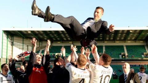 Grant Murray celebrates