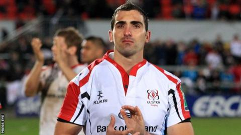 An emotional Ruan Pienaar walks off the field after Ulster's defeat on Saturday night