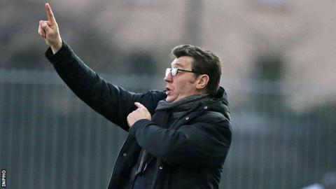 Derry City manager Roddy Collins during Monday's defeat by Dundalk at Oriel Park