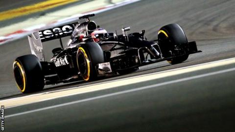 McLaren driver Jenson Button at the Bahrain Formula One Grand Prix.