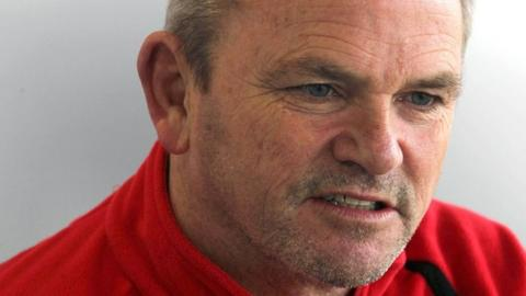 Ulster coach Mark Anscombe in determined mood at Ravenhill on Wednesday