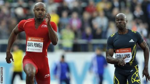 Asafa Powell and Kim Collins