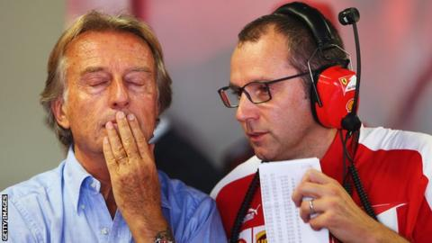 Ferrari boss Luca di Montezemolo (left) and Stefano Domenicali