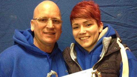 Weightlifting coach Chick Hamilton and Georgi Black
