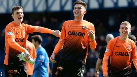 Dundee United youngsters Andrew Robertson, John Souttar and Ryan Gauld