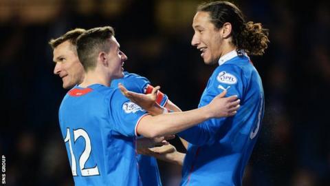 Rangers were 3-0 winners at Ibrox