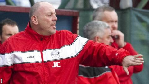 East Stirlingshire manager John Coughlin