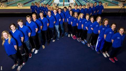 The Scotland aquatics team for 2014