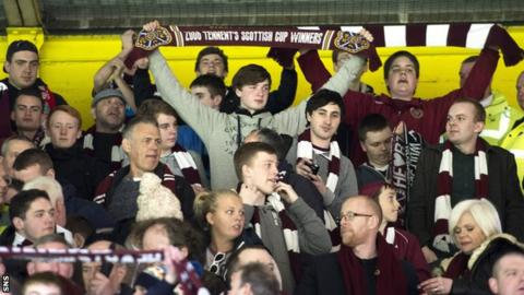 Hearts supporters