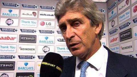 Manchester City 2-2 Sunderland: Manuel Pellegrini says draw is 'not enough'