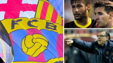 Barcelona, Neymar and Lionel Messi, Tata Martino