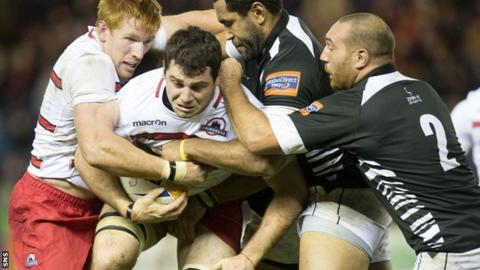 Edinburgh against Zebre