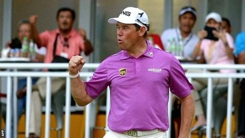 Lee Westwood during the final round at the Malaysian Open