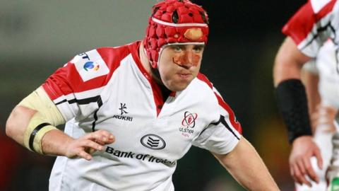 Declan Fitzpatrick in action for Ulster
