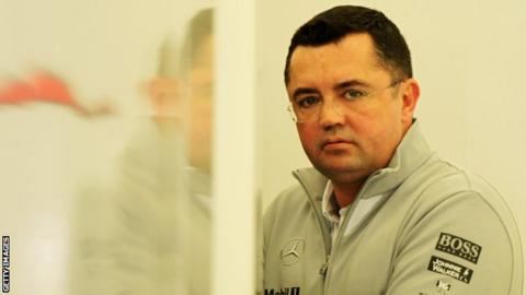 McLaren Racing Director Eric Boullier is seen in the paddock during day one of Formula One Winter Testing at the Bahrain International Circuit on February 19, 2014