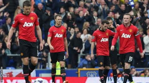 Forlorn Manchester United players
