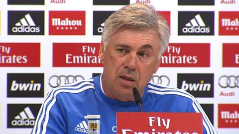 Real Madrid's Carlo Ancelotti discusses the Manchester United manager vacancy