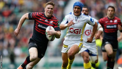 Chris Ashton scores for Saracens