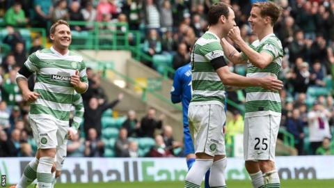 Anthony Stokes celebrates after his third goal
