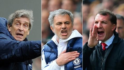 Manuel Pellegrini, Jose Mourinho, Brendan Rodgers