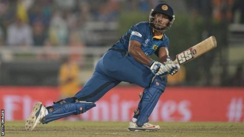Kumar Sangakkara of Sri Lanka bats during the ICC World Twenty20 Bangladesh 2014 Final against India