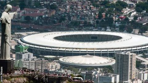 The Maracana Stadium in Rio will host the Fifa World Cup and 2016 Olympics