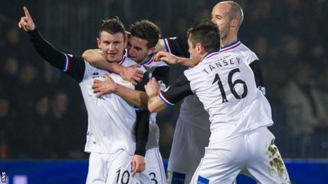 Inverness players celebrating
