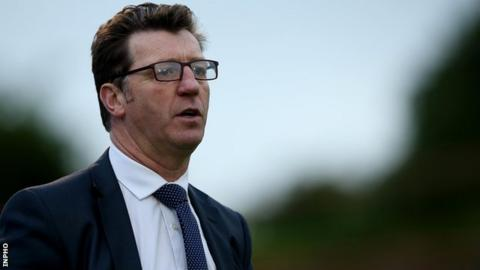 Derry City manager Roddy Collins watches Friday night's game at Dalymount Park