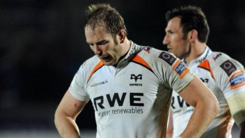 Ospreys captain Alun Wyn Jones