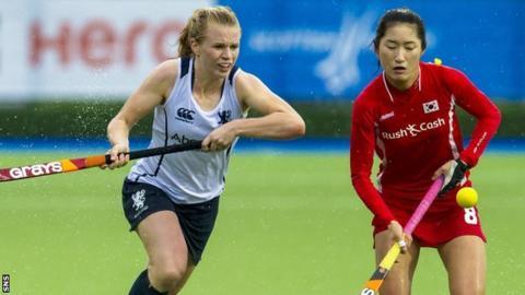 Scotland's Morag McLellan in action against South Korea