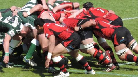 Jersey's scrum power to victory at Footes Lane