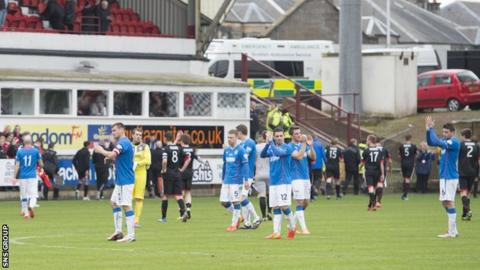 Rangers ended their campaign with a 1-1 draw at Dunfermline