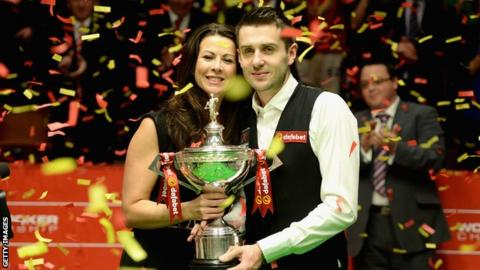 Mark Selby and wife Vikki