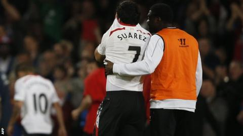 Luis Suarez and Kolo Toure
