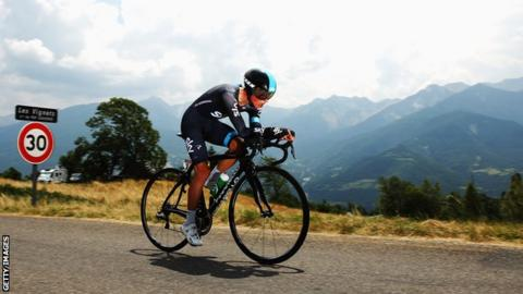 Team Sky rider Peter Kennaugh
