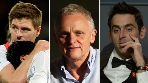 Steven Gerrard, Dr Steve Peters, Ronnie O'Sullivan